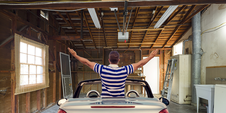 Renovate your garage...and welcome your new car in style