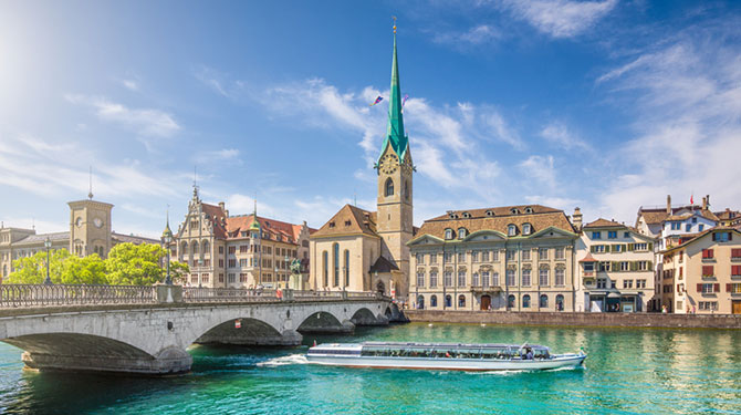 Photo of the city of Zurich